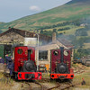 Engines on shed at Threlkeld Mining museum Cumbria