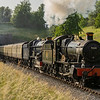 Dinmore Manor double heads with King Edward II at Winchcombe tunnel