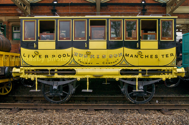 Part of the national Railway Museums 'Rocket train', seen at Lougbborough station during a Golden oldies weekend