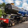 Ex GWR 'King' 4-6-0  express passenger loco  6023 King Edward II.  Toddington 09-06-18.
