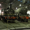 Two ex Midland railway engines , a small class 1F & 5mt 4-6-0 black 5 around the turntable at Barrow hill