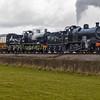 7F's 53809 & 809 Woolston moor on the West Somerset railway