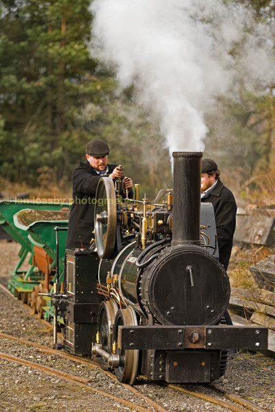 Narrow gauge loco 0-4-0 'Samson' hard at work on the colliery narrow gauge system at beamish during a photo-chater on friday 17-03-17