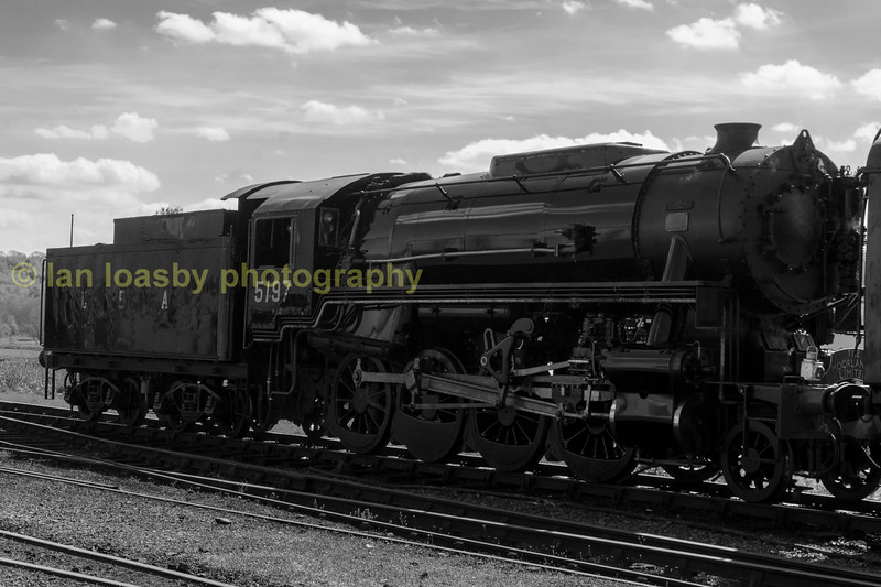 104 / 113  USA S160 2-8-0 5197  at Cheddleton , the operating base of the Churnet valley railway, sunday 23-04-17