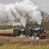 7F's 53809 &808 at Bicknoller on the West Somerset railway