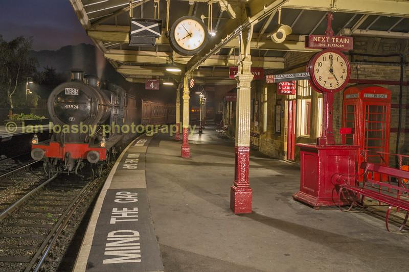 British Railways (Midland Railway) 4F 0-6-0 43924 @ Keighley on the Keighley and worth valley railway
