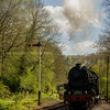 USA S160 2-8-0  5197 arriving at consal forge on the churnet valley railway sunday 23-04-17