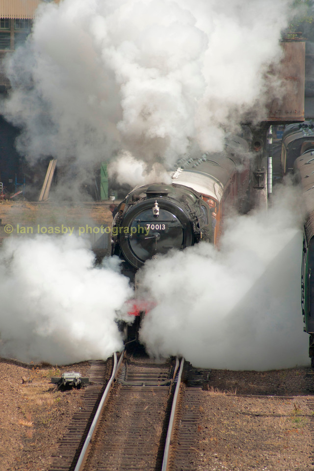 A steamy departure from Loughborough for Oliver Cromwell