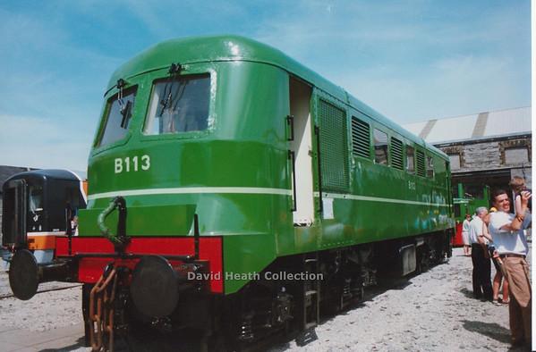 B113 Inchicore Open Day (CIE B Class later Class 113 Inchicore Built Sulzer Engine) D Heath
