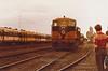 Inchicore works sound barrier of old B Class 101 diesels D Heath