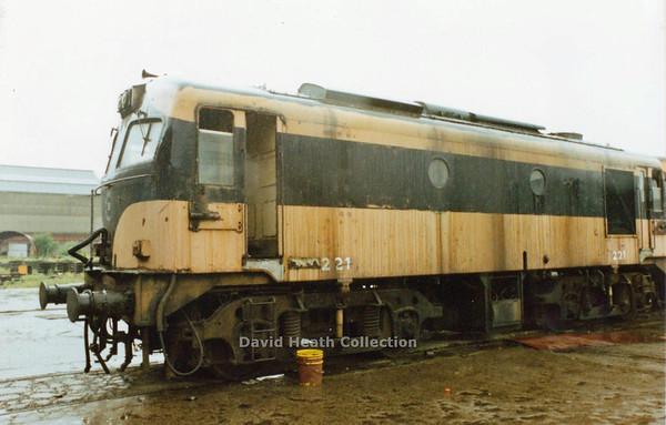 221 CIE Inchicore  26 June  1990  D Heath