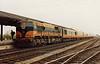 074 (CIE Branding & livery)  Limerick Jnt  note steam heating  coach behind loco  D  Heath