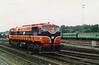080  IR Heuston  note RPSI Green coaches behind loco  D Heath