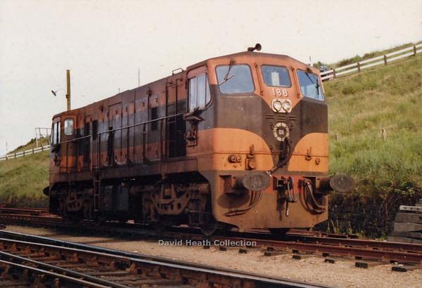 188 (CIE Branding & livery) Rosslare Harbour 29 June 1980 D Heath