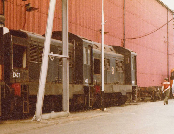 E403 E407 Inchicore Wks CIE C 1983  D Heath
