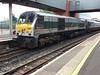 208) 8208 River Lagan Green-Silver Enterprise livery Belfast 16 April 2011