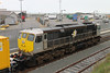 075 (IE Freight Livery) Special run with new recording unit Rosslare Europort 26 Nov 2011