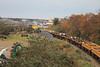 075 (GM Class 71) Wexford rail and spoil wagons 25 Nov 2013 (2) David Heath