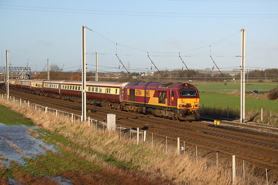 67014 leading Northern Belle excursion from  Liverpool Chester 11/12/06