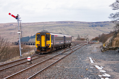 156441 has past through Garsdale without stopping. Only Settle, Kirkby Stephen and Appleby are served by this train.