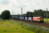 The ever regular Tescos express - 92031 heads past Winwick on 4S43 Daventry Mossend 7/07/12