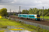 Arriva trains 175104 heads for North Wales at Winwick  - Some mallards have taken up residence in the flooded field- 12/05/12