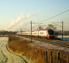 A frosty start to the year and I went to Red Bank for 92 hauled 4S43, but it was heavily delayed and I decided to move- so here is a Pendolino in compensation - 14/01/12