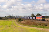 4S43 - Daventry Mossend, is running nearly an hour late as it passes Red Bank, Newton le Willows on 6/10/12 behind 92031