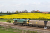 Heading away to Ferrybridge Power station with its motley selection of hoppers - 66738 heads away from Colton Jct 05/05/12
