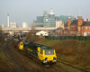 70013 passing under Warrington Bank Quay with 4F02 Garston-Ellesmere Port.  24/3/12