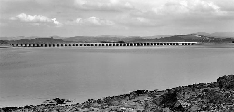 37423 and 37 409 top and tail 6C51 Sellafield Heysham across Arnside viaduct 1 August 2013