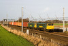 You can tell Christmas is near when 4M01 runs - 86604 and 86608 head the Coatbridge Crewe freightliner