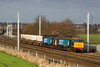 21 December and a busy half hour at winwick.  57002 and 57008 working 6K73 Selafield - Crewe.