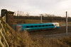 Arriva trains Wales class 175 heads past Winwick on its way to holyhead 12/01/13