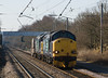 6C53 - Crewe Sellafield is running over an hour late as it heads past Balshaw Lane Jct on 13 April 2013 with 37602 and 37 265