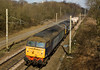 6K73 (Sellafield- Crewe) was running on 13 April 2013, behind 57007 and 57003 , here passing Charnock Richard