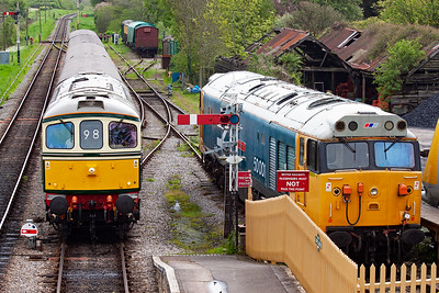 D6515 passes 50001 (as per the side of the loco) as it runs in for its stop and to cross a down train.