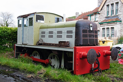 """Talking of shunter """"May"""", here she is tucked away behind the goods shed and slowly being brought back to life by the Swanage Cygnets."""