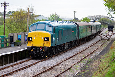 "45060 ""Sherwood Forester"" fronts 1N02 0946 Swanage to Norden class 1 service which is not booked to stop at Herston or Harmans Cross."