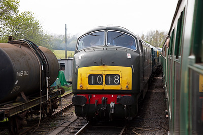 At Norden the line up of locos in the loops is impressive. Next one out is Warship D832 and we will savour the haulage.