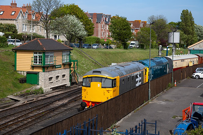 Two other locos in for the diesel gala are type 2s with class 26 26007 and class 25 D7535.