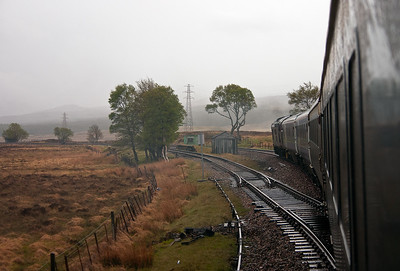 Almost 7 years later on 26/5/2006, just before the class 37's came off the sleeper turn, I rode to Fort William on the sleeper portion. 37401 passes Gorton Loop as seen from the back of the four coach train 1Y11 0450 Edinburgh - Fort William.