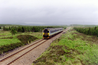 On the 9 mile walk from Gorton to Rannoch, 156485 and 156492 run south at milepost 59 1/2 with 1Y34 1030 Mallaig to Glasgow Queen Street. This is about 2 miles from Gorton.