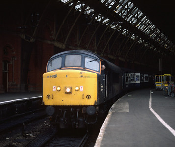 45110 at St Pancras with Leicester train May-88