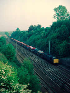 37255 with Ford Cartics heading North at Knebworth 11/6/84