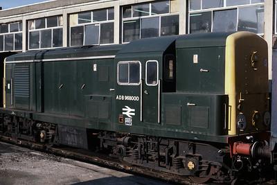 Class 15 ADB 96800 stabled at Marylebone 9/3/86