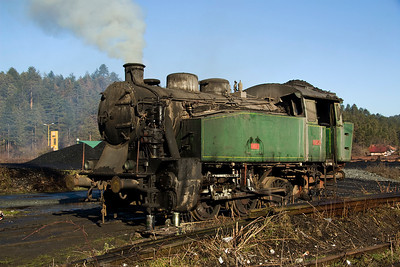Meanwhile on the standard gauge section at the Oskova washery 19-12 was in steam, presumably in preparation for the tour later in the week