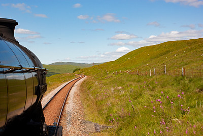 Getting away from Bridge of Orchy and out onto Rannoch Moor proper and I am on the footplate of 61994.
