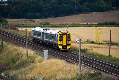 Another sprinter worked service is 1L58 0941 from Dundee to Edinburgh with 158729.