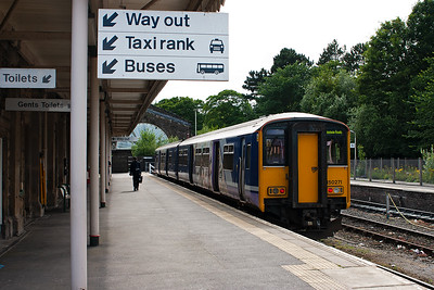 150271 sits in Buxton's platform 2 having worked in probably from Manchester Piccadilly.